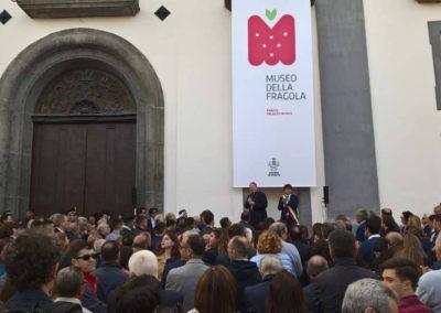 Inaugurazione del primo Museo della fragola in Europa - Progetto espositivo e Art direction Luciano de Venezia - Allestimento Mediateur
